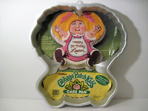 Vintage 1984 CABBAGE PATCH KIDS Birthday Cake Pan TV Show Cartoon Character Used