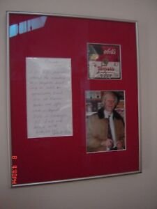 ANDY WARHOL Signed Actual Campbell's Soup Can Label Framed with PSA LOACOA