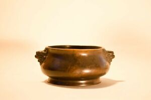 Xuande Bronze Censer with Dragon Handles and Ornamental Dragons