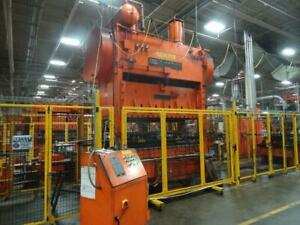 200 ton USI Clearing  Straight-side stamping press  96x48