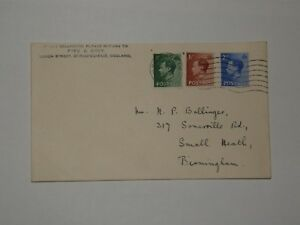A379 K.E.VIII FIRST DAY COVER WITH BIRMINGHAM CDS TWO HINGE MARKS ON REAR GBP 31.50