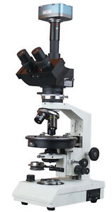 Ore Rock Transmitted amp Reflected Light Polarizing Microscope w 3Mp Cam