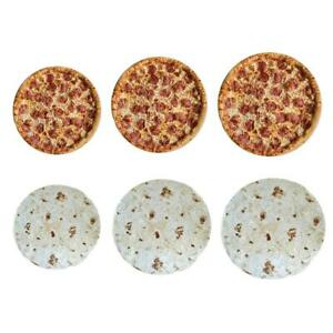 Pizza Cotton Texture Baby Throw Blanket Family Novelty Office Quilts Carpets Mat