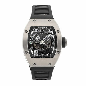 Richard Mille RM 010 Auto White Gold Mens Strap Watch Date RM010 AH WG