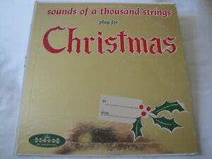 SOUNDS OF A THOUSAND STRINGS PLAY FOR CHRISTMAS VINYL LP ALBUM 1959 CROWN REC.