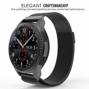 Black Milanese Magnetic Stainless Watch Band For Samsung Galaxy Gear 4246mm