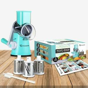 Rotary Cheese Grater Hand Crank Stainless Steel Vegetable Food Chopper Shredder