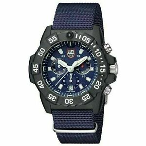 New Luminox Navy Seal Chrono CARBONOX Blue Dial Nato Band Men's Watch XS.3583.ND