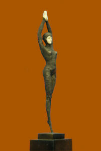 Art Deco Hand Made Classic ~Chiparus~ Bronze Sculpture Marble Base Figurine GIFT