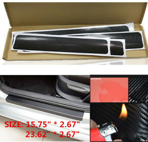 2019 NEW Accessories Carbon Fiber Car Door Sill Scuff Anti Scratch Sticker