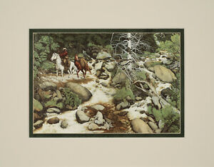 Bev Doolittle The Forest has eyes Double Matted print fits standard 11x14 frame $19.99