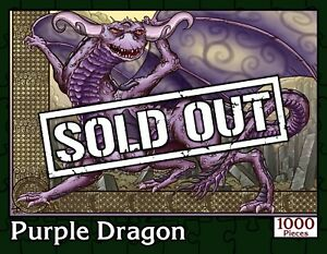 Purple Dragon | 1000 Piece Fantasy Jigsaw Puzzle | New Sealed in Numbered Box