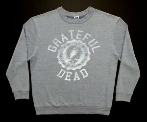 Grateful Dead Sweat Shirt Sweatshirt University Steal Your Face ! Grey GD 2011 L