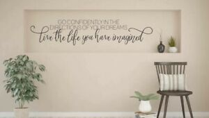 GO CONFIDENTLY DREAMS Quote Wall Art Decal Words Lettering Decor