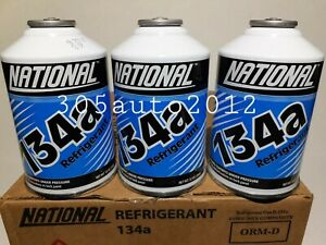 R134a Refrigerant NATIONAL 3 Cans A C 12oz Can Auto Car Air Conditioning AC $29.99