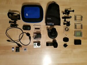 Gopro hero 3+ Black wLCD Touch BacPac 32GB SD Card and Much More