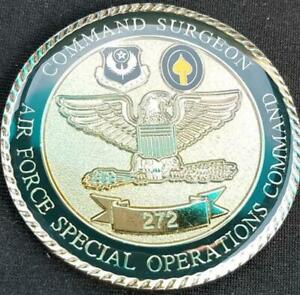 US Air Force Special Operations Command Chief Surgeon Challenge Coin Number 272