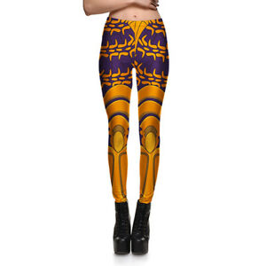 Women leggings gold purple armour printed cosplay S 4XLslim legging fitness 3818 $11.02