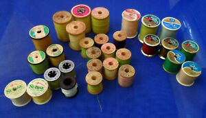 Lot of 30 Vintage Sewing Thread SPOOLS Belding Corticelli J amp; P Coats Molnlycke $29.99