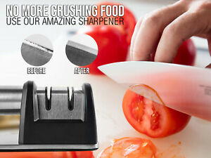 Chefxtec Manual Stainless Steel Knife Sharpener for All Kinds of Blades Knives