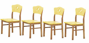 Kings Brand Furniture Dining Room Kitchen Side Chair Yellow Set of 4