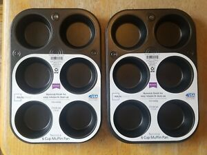 New Mainstays 2 Piece 6 Cup Muffin Pan Non Stick
