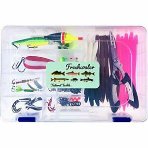 Fishing Lure Kit 118 Pc. Freshwater Gear Lures Pliers Tackle Box For Bass Trout