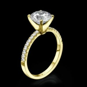 1.00 CT Real Round Cut Enhanced Diamond Engagement Ring 14K Yellow Gold D VS