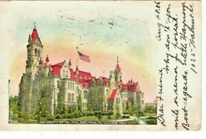 PHILADELPHIA PA UNIVERSITY OF PENNSYLVANIA COLLEGE HALL POSTCARD 1906 $9.59