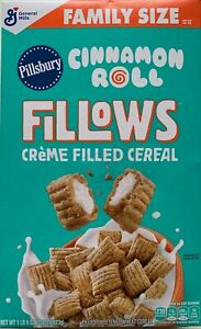 NEW PILLSBURY CINNAMON ROLL FILLOWS CEREAL 22 OZ BOX FREE WORLDWIDE SHIPPING