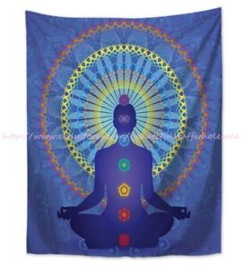 chakras healing yoga meditation wall hanging table cloth tapestry