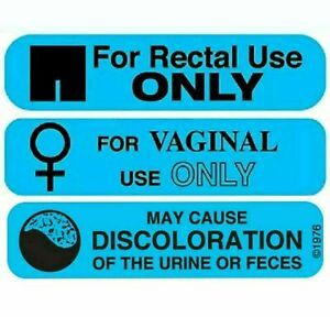 For Rectal/Vaginal Use Only/May Cause Discoloration