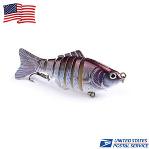 1pc Plastic Fishing Lure Bass Muskie Pike Swimbait Crankbaits Tackle 10cm 15G