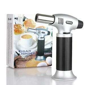 Blow Torch Refillable Butane Torches Kitchen Culinary Cooking Torch with Safety