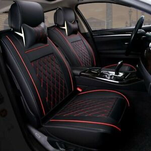 Universal PU Leather 5 Seats SUV Front & Rear Car Seat Cover Cushion Full Set