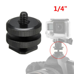 14 Inch Thread Screw Flash-Cold Hot Shoe Camera Adapters Mount For GoPro DSLR
