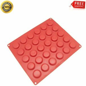 NEW Reusable Silicone Mold Round 30-Cavity For Chocolate Cookie Baked Non Stick