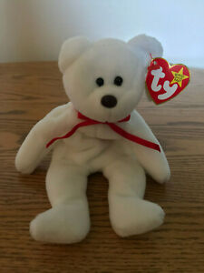Valentino Ty beanie baby brown nose mismatched tagsTy tag 1994 tush tag 1993