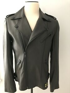 FRANKIE MORELLO Made In Italy NEW MEN'S LEATHER JACKET size XL EU - M US
