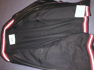 Bally Black Soft Lamb Leather Jacket Size US Large EU 52 Made in Italy. For Men