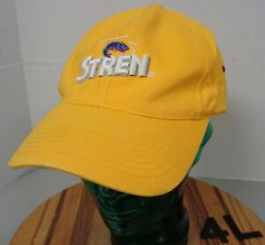 STREN FISHING LINE HAT GOLD EMBROIDERED STRAPBACK ADJUSTABLE VGC 4L