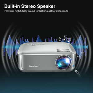 US 7000 Lumens FHD 1080P 3D Projector Home Theater LED Multimedia Dust-proof Net
