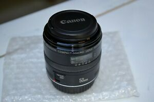 Canon EF 50mm 2.5 Compact-Macro Lens Very Good Condition with Front