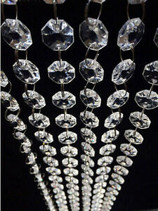 Hot DIy Clear Acrylic Crystal Bead Garland Chandelier Hanging Wedding Supplies