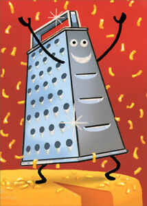 Avanti Smiling Cheese Grater Funny / Humorous A-Press Thank You Card