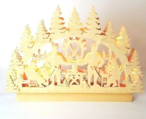 Michael Muller Wooden Holzkunstgewerbe German Christmas Wood Light Hand Crafted