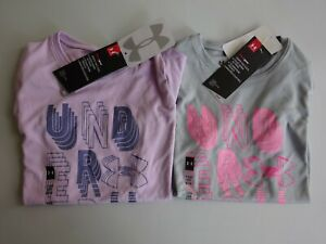 Under Armour Girl's Linear Wordmark Short Sleeve Tee NWT!! 2019