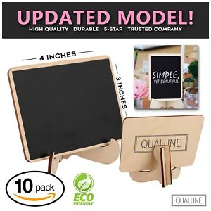 FREE SHIPPING Mini Chalkboards Signs with Easel Stand, 10 Pack