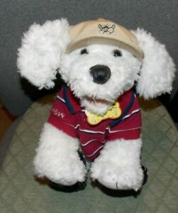 Build A Bear Workshop White Maltese Puppy Dog stuffed plush outfit shoes hat 13