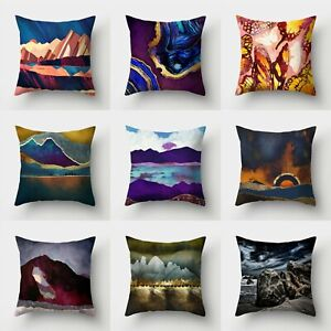 Case Sofa Decor Home Waist Polyester Cushion Pillow Throw Cover 18#x27;#x27; $2.29